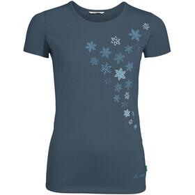 VAUDE Skomer Print Camiseta Mujer, azul